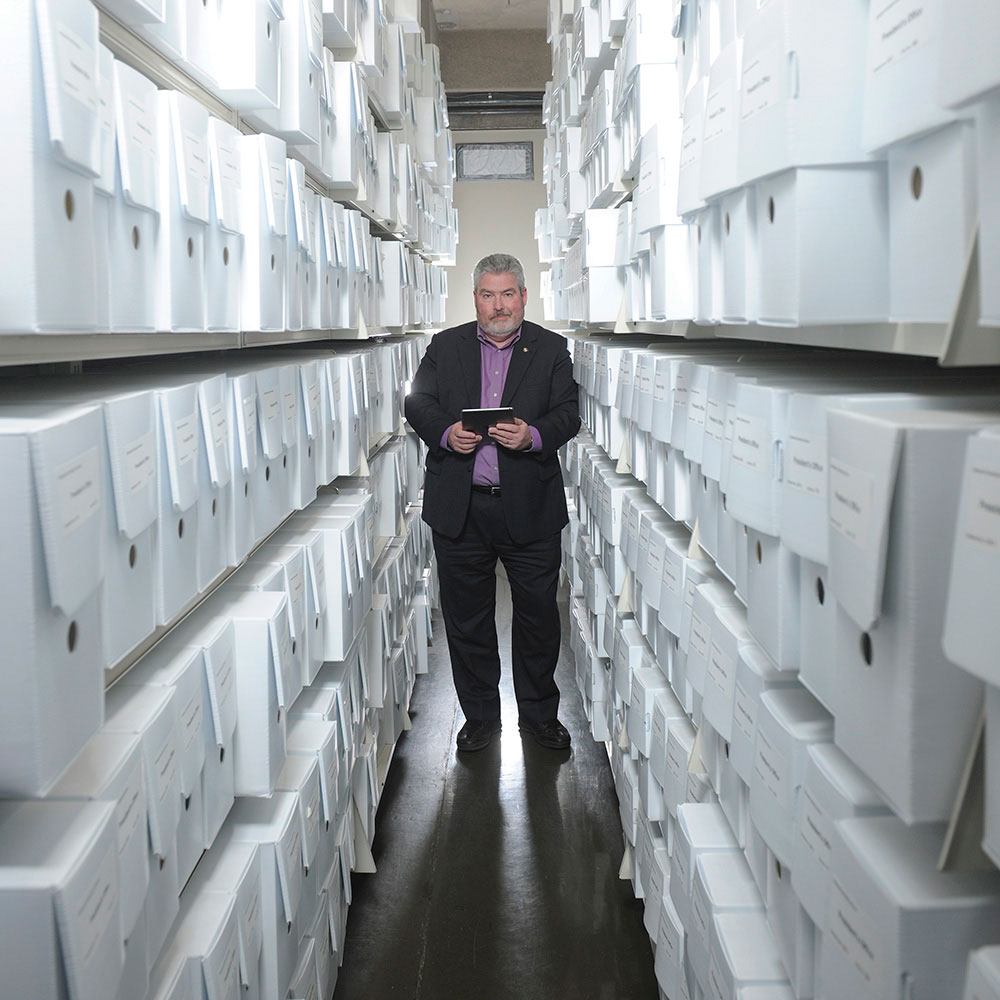 Archivist Michael Moosberger