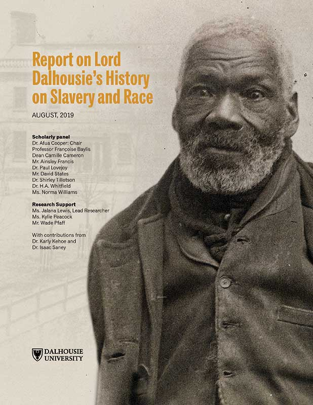The cover of the panel's report features a memorial of Gabriel Hall of Preston, a Black Refugee who emigrated to the colony of Nova Scotia during the War of 1812.