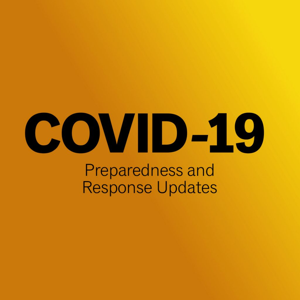 Covid-19 Preparedness and Response Update