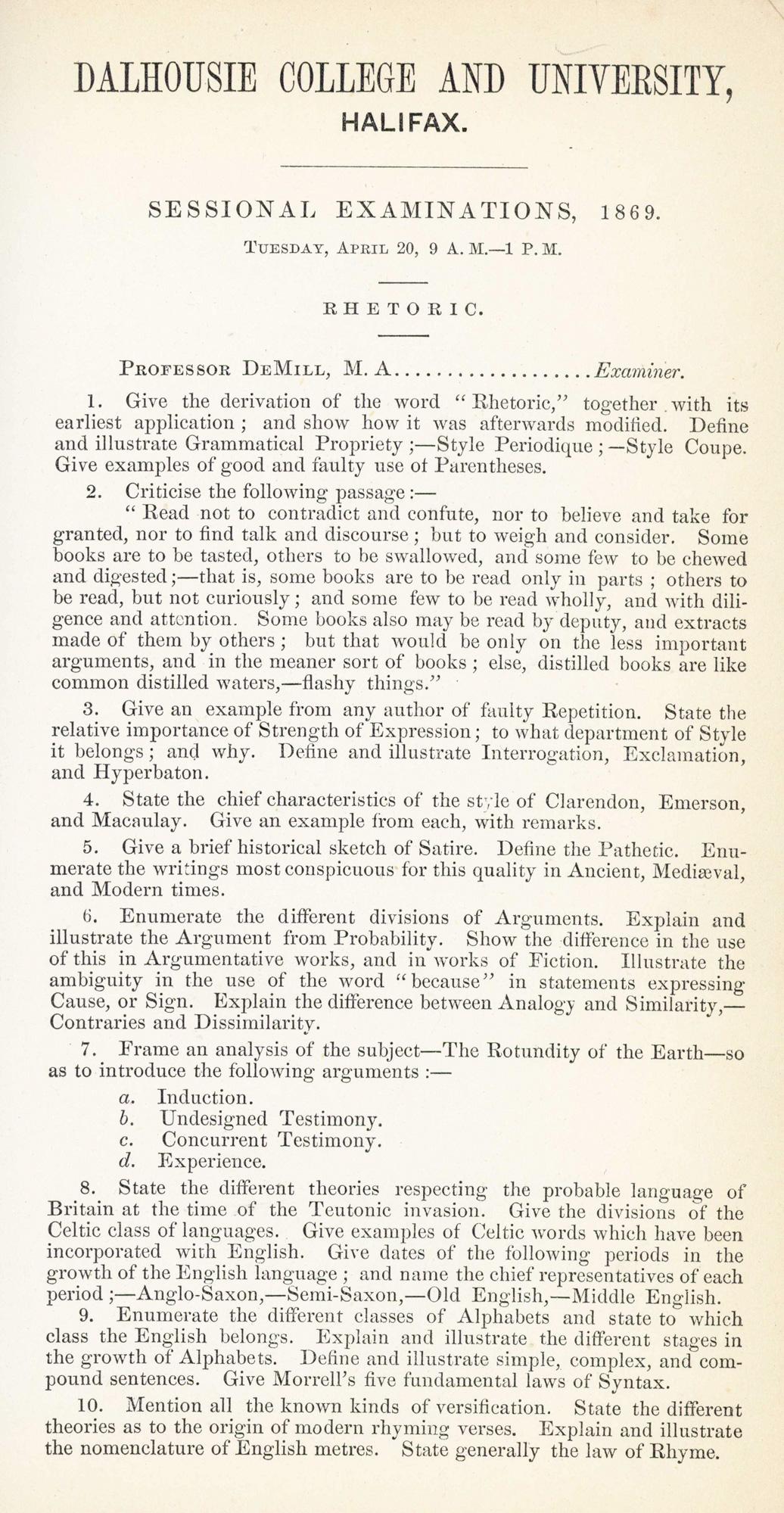 1869 Rhetoric